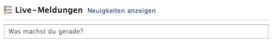 """Facebook Status-Updates nun """"Live-Meldungen"""""""