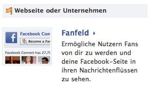 Facebook Fanseite-Widget