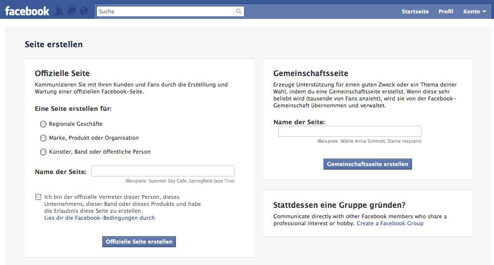 Facebook bietet eigene Gemeinschaftsseite für nicht offizielle Fanseiten