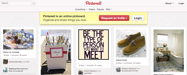 Pinterest Startseite