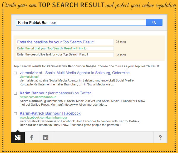 Norton Top Search Online Reputation Management