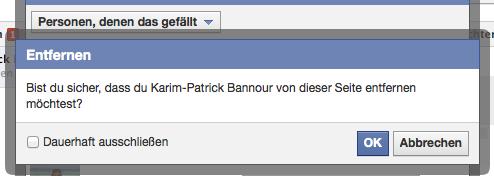 freund auf facebook entfernen