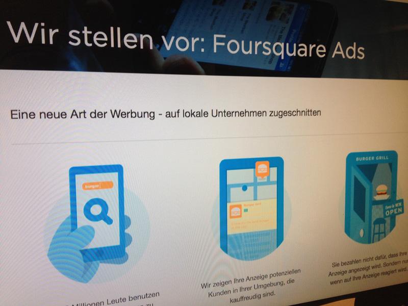 Foursquare Werbeanzeigen
