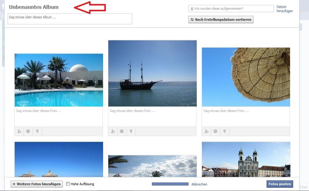 Facebook Fotoalbum Erstellen