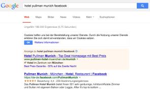 Facebook-Seiten Sterne-Bewertung auf Google