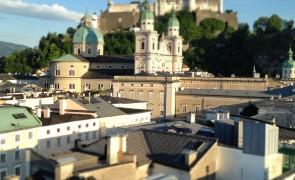 Blick auf die wunderschöne Altstadt von Salzburg.