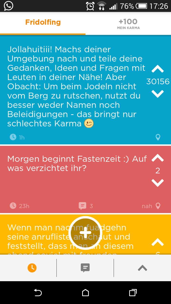 Jodel Screenshot
