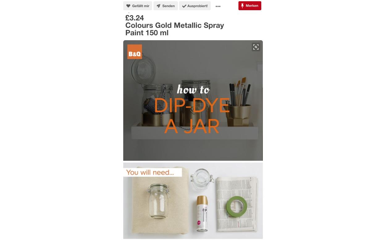 Kreativ umgesetzt: B&Q bietet ein DIY an und verkauft so seinen Spray.