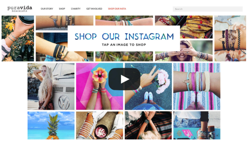 Foto: Screenshot Puravidabracelets Instagram Shopping Gallery
